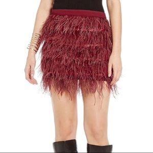 Gianni Bini Feather Skirt